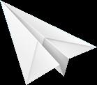 Un avión de papel grande