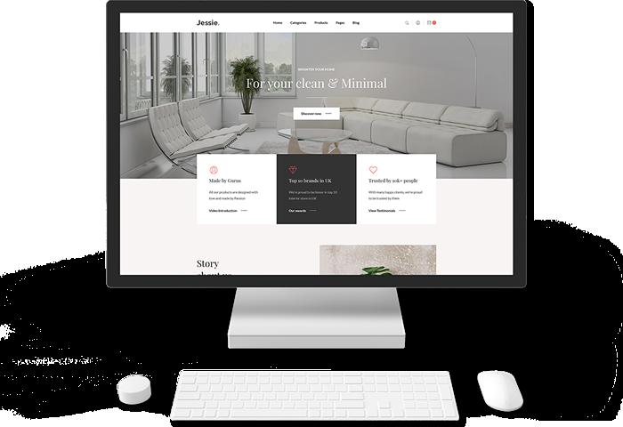 Muestra de diseño web profesional, elegante y económico